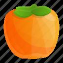 exotic, food, fruit, persimmon, summer