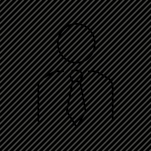 corporate, office, person, tie icon