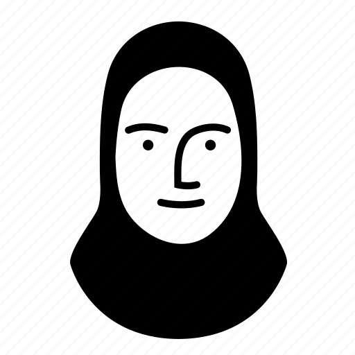 face, hijab, human, person, persona, woman icon