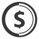 coin, dollar, finance icon