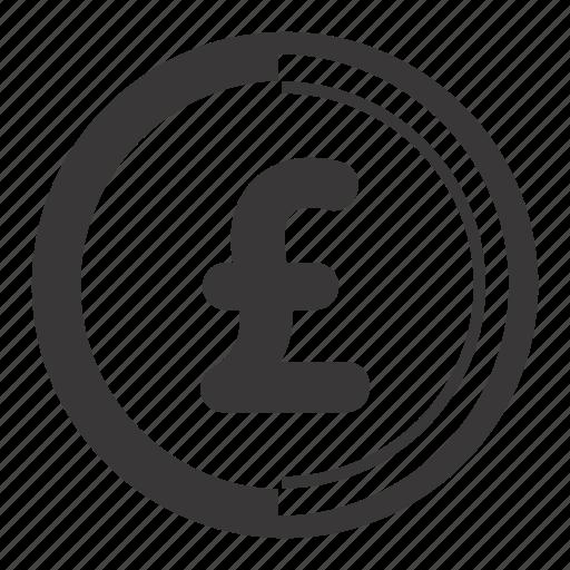 coin, pound icon