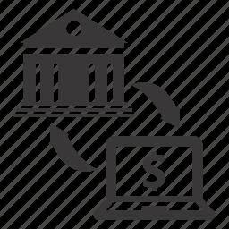 banking, money transfer, transaction icon