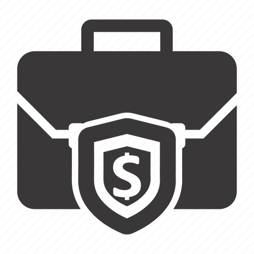 finance, secure, shield icon