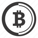 bitcoin, currency, finance, money icon