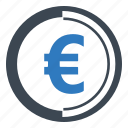 coin, euro, finance icon