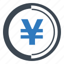 coin, finance, yen icon