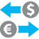 currency converter, finance, money transfer icon