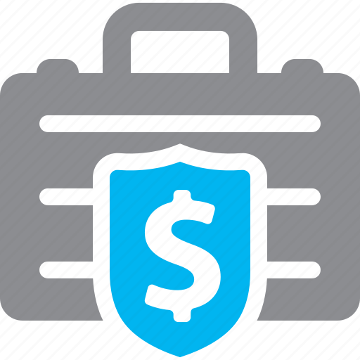 finance, secure, shield icon