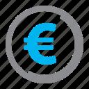 coin, euro, finance