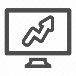 balance, computer, monitor, screen, sheet, statistics icon