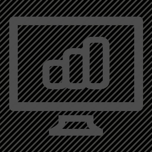 chart, computer, monitor, screen, statistics icon