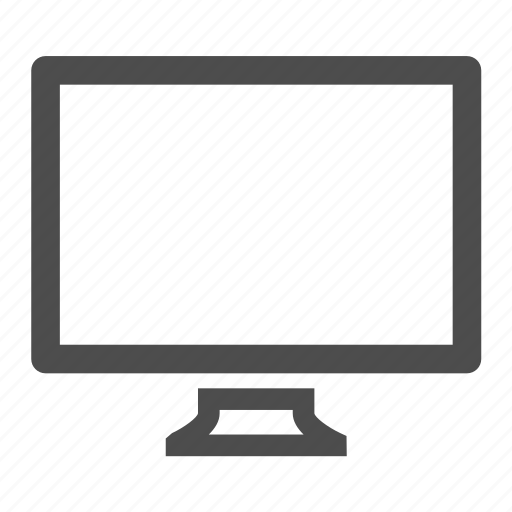 computer, display, hardware, monitor, screen icon