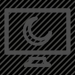 computer, monitor, moon, screen, screensaver icon