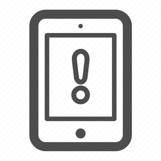 alert, ipad, pc, tablet icon