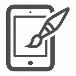 art, brush, ipad, paint, pc, tablet icon