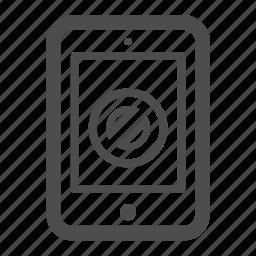 close, forbidden, ipad, pc, tablet icon