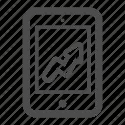 balance, chart, ipad, pc, statistics, tablet icon