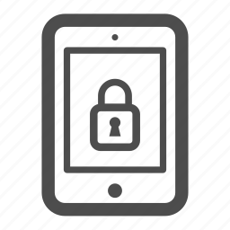ipad, lock, locked, pc, tablet icon