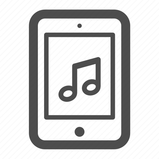 ipad, mp3, music, notes, pc, tablet icon