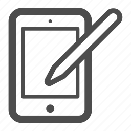 draw, ipad, pc, pen, tablet icon