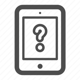 assistance, ipad, pc, question, tablet icon