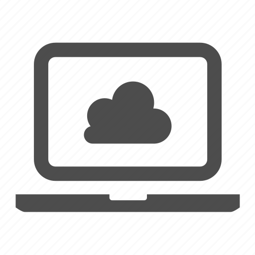 cloud, connection, laptop, network, notebook, web icon