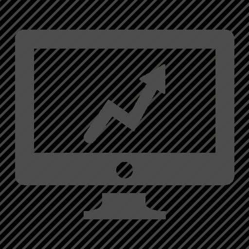 balance, computer, graph, monitor, report, screen, statistics icon
