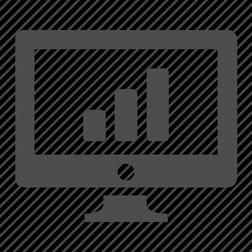 bar, chart, computer, graph, monitor, screen icon