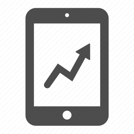 analytics, chart, graph, ipad, report, statistics, tablet icon