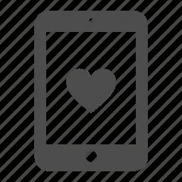 heart, ipad, like, love, pad, tablet, vote icon