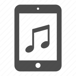 audio, ipad, mp3, music, notes, sound, tablet icon