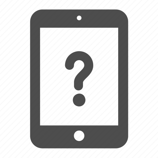 assistance, help, information, ipad, question, tablet icon
