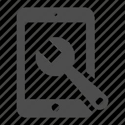 ipad, repair, tablet, tool icon