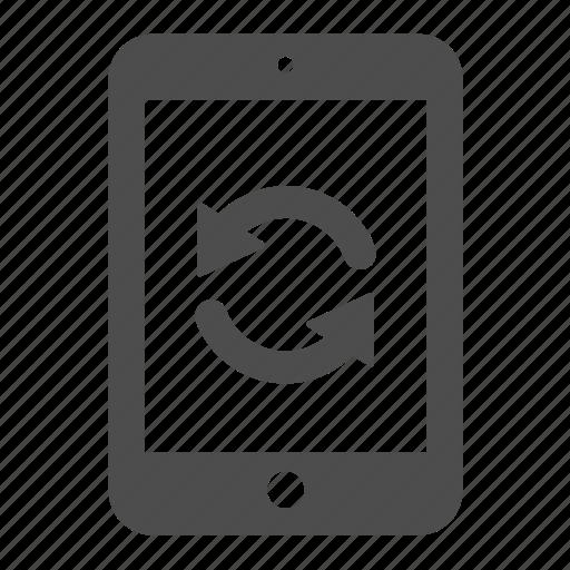arrow, ipad, pad, refresh, reload, sync, update icon