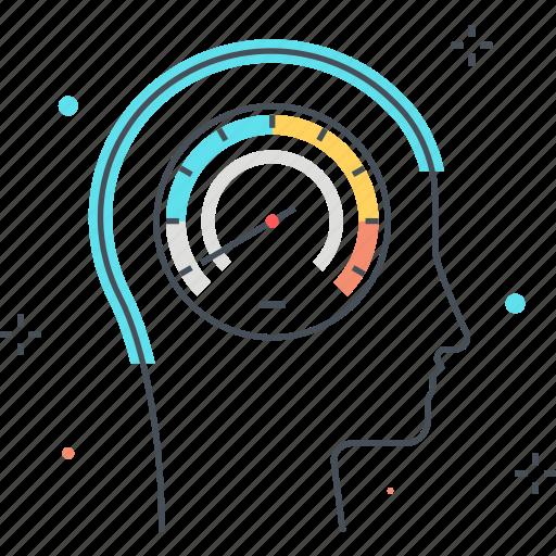 male, man, speedometer, thinking speed icon