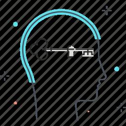 key, lock, male, man, new, skills icon
