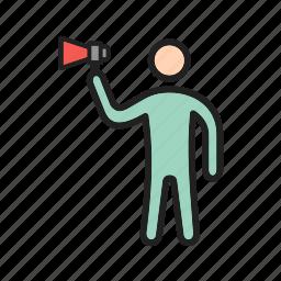 bold, character, confident, feedback, opinion, outspoken, talk icon