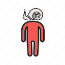 tired, depressed, people, exhausted, boredom, sick, sluggish icon