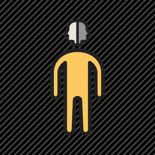 design, face, graphic, mark, profile, side, two icon
