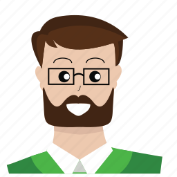 avatar, customer service, glasses, people, person, support, user icon