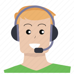 communication, customer service, headphones, info, person, question, user icon