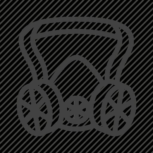 gas, mask, protective, respirator icon