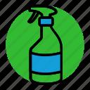 extermination, exterminator, fumigation, pest, spray bottle, water spray icon