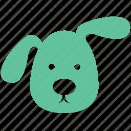 cartoon, cute, dog, pet, puppy icon
