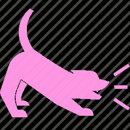 bark, barking, dog, guard, pet, puppy, warning icon