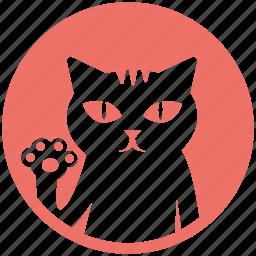 cartoon, cat, cute, hello, kitten, kitty, pet icon
