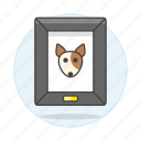 animal, dog, frame, love, painting, pet, photo, picture, pride, puppy icon