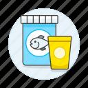 animal, bag, care, cup, fish, food, pet icon