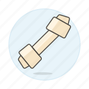 bone, chew, chewing, cow, dog, dried, leather, pet, rawhide, toy icon