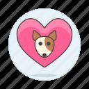 animal, dog, emoji, heart, love, pet, pink, pride, puppy icon